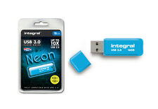 Integral 16GB Neon USB 3.0 Flash Drive in Blue - Up To 10X Faster Than USB 2.0