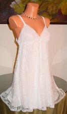 NWT Oscar de la Renta SWEET ROMANCE Babydoll, M White * $150 *