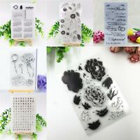 DIY Silicone Clear Rubber Stamps Seal Scrapbooking Album Card Decor Diary Crafts