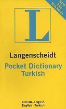Langenscheidt Pocket Turkish Dictionary: Turkish-English/English-Turkish