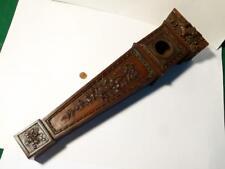 """19thC bois sculpté Mini Grand-père Horloge montre de poche Hutch Support 21"""" Tall"""