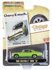 "Chase 1968 CHEVROLET NOVA SS GREEN ""VINTAGE AD CARS"" 1/64 GREENLIGHT 39050 A"