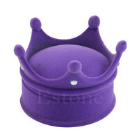 New Nice Crown Necklace Ring Box Jewelry Box Velvet Jewelry storage Gift Case