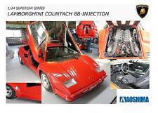Aoshima     1 /24 Lamborghini Countach 5000QV 88 Sports Car AOS11553