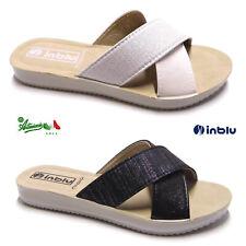 INBLU pantofole ciabatte donna incrociate basse morbide comode mare città BM 31