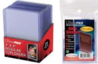 Ultra Pro Soft Card Sleeves (100) Toploaders (25) Pokemon MTG Protectors Bundle