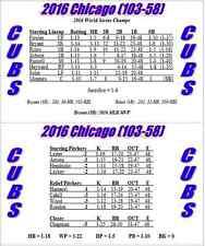 2016 MLB Baseball Season Solitaire Stat-Based Board/Card Game - New