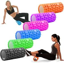 Yoga Massage Grid Foam Roller Physio Muscle Rehab Trigger Point Gym Training