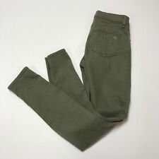 Rag & Bone Women's The Skinny Ultrasoft Cotton Stretch Army Green Jeans Pant 26