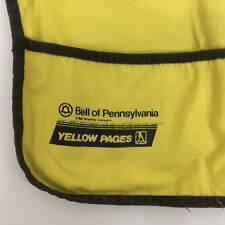 vintage bell of Pennsylvania yellow pages work apron yellow with black trim