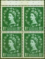 GB 1961 1/2d Vert SG621l Livret Volet V.F MNH