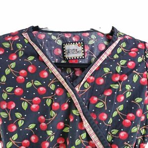 Mary Engelbreit XS Cherries Scrub Top