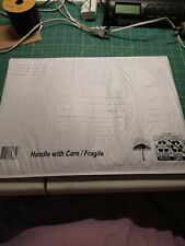 (5) 15x11 Poly Mailers White Envelope Plastic Shipping Bags