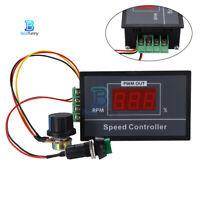 30A Digital LED Display adjustable DC 6V 12V 24V 48V Motor Speed Controller PWM