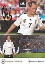 Autogramm Melanie Behringer Frauen Fußball DFB Olympiasieg 2016 WM 2007 FCB 16-1