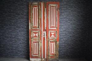 Traumhafte alte Antike Holztür Eingangstür Doppeltür  Zweiflügel Tür 239 x 115