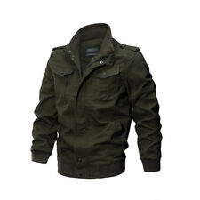 Men's Military cotton jackets casual collar bomber jacket coat parkas outwear