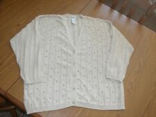 KORET WOMEN'S SIZE 1X TAN CARDIGAN BUTTON FRONT SWEATER