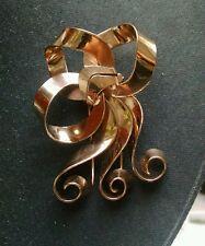 Napier Art Deco fur clip, sterling/vermeil
