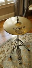 Used Sabian 15 Inch Aa Sizzle Hi Hats and Stand/Pedal