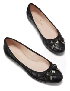 NEW Kate Spade NY Women's Pauline Quilted Ballet Flats Black Size 9 NIB