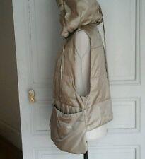 MARITHE+FRANCOIS GIRBAUD veste doudoune beige dorée taille XS