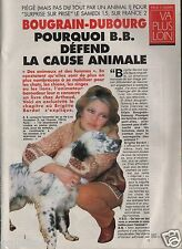 Coupure de presse Clipping 1995 Brigitte Bardot  (3 pages) la cause animale