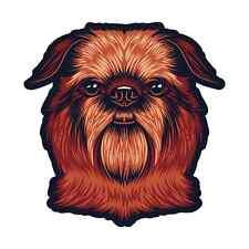 Brussels Griffon Dog Sticker   Die Cut Vinyl