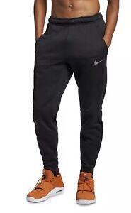 Nike Mens NSW Dri-FIT Black Therma Fleece Training Jogger pants Large Tapered