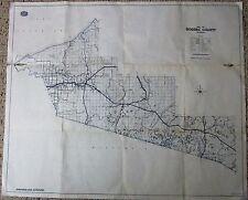 "1961 AAA Road MAP Ontonagon & Gogebic County Michigan Automobile Club 34"" x 28"""