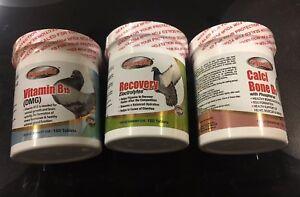 TRIO PARA PALOMAS/ FOR PIGEONS VIT B15 RECOVERY & CALCI BONE D3 150 Tab