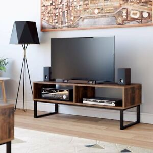 Industrial  TV Unit Wooden Console Media Stand Cabinet Vintage Storage Furniture