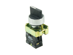 22MM Panel Mount 2 Position Latching Selector Switch & Normally Open Contact