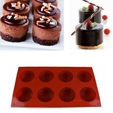 Cake Mold Soap Mold Round 8 Holes Silicone Mould Bakeware For Candy Chocolate AU