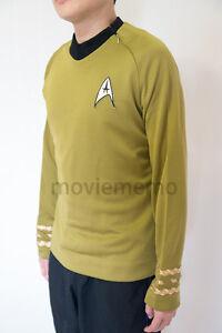Star Trek Costume Captain Kirk TOS Uniform Original Series Shirt Tunic Cosplay