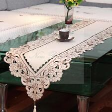 Yazi Table Runner Embroidered Cutwork Hollow Wedding Party Banquet Decoration Wl1-010 40 X 175cm / 15.7 X 69 Inch