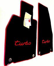 LICENSED PORSCHE® Floor Mats with Red logo/binding fit 2012-2017 911 turbo coupe