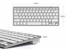 Ultra-slim White Bluetooth Keyboard For iPad IOS Android Windows Tablet iphone