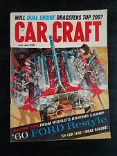 Car Craft Magazine May1960 Ford Restyle - Racing Tips From World Go Kart Champ