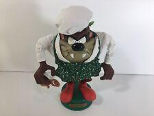 Tasmanian Devil Taz Christmas Chef Animated Figure Warner Brothers Looney Tunes