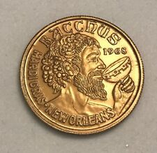 2015 Krewe Of Bacchus Mardi Gras Doubloon Mini Brown Bacchus Express