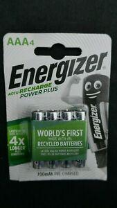 Energizer ACCU 700 mAh Recharge Power Plus AAA Batteries