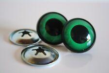 Ojos de seguridad verdes 20 mm para osos de peluche amigurumi juguetes animales