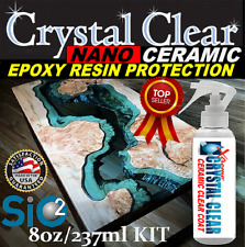EPOXY RESIN TABLE TOP CRYSTAL CLEAR CERAMIC SEALANT SCRATCH & STAIN RESISTANCE