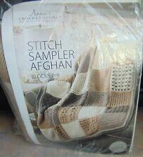 Annie's Stitch Sampler Crochet Afghan Kit Blocks 25-27 Cappucino New