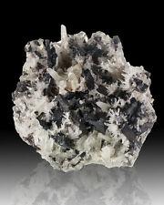 "5.6"" Large Metallic Silver HUEBNERITE Crystals with Sharp Quartz Peru for sale"