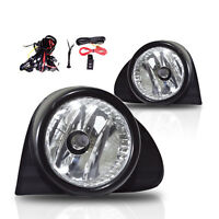 03 04 05 Toyota Echo Fog Lights Clear Lens Front Bumper Lamps COMPLETE KIT
