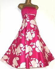 MONSOON ✩ STUNNING MURILLO CERISE PINK SILK ORIANE FIT & FLARE DRESS ✩ UK  10