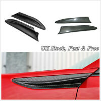 2 x Carbon Fiber Side Fender Air Fin Vents For Subaru BRZ Toyota GT86 Scion FR-S