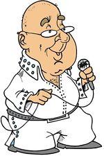 30 Custom Cartoon Elvis Impersonator Personalized Address Labels